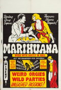 "Movie Posters:Exploitation, Marihuana (Roadshow Attractions, 1936). One Sheet (27.75"" X 41"").. ..."