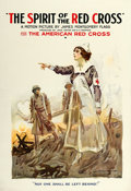 """Movie Posters:War, The Spirit of the Red Cross (Red Cross, 1918). One Sheet (28"""" X 41"""") James Montgomery Flagg Artwork.. ..."""