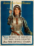 """Movie Posters:War, World War I Propaganda (United States Treasury Department, 1918). Poster (29.5"""" X 40"""") """"Joan of Arc Saved France,"""" Haskell C..."""