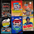 Baseball Cards:Unopened Packs/Display Boxes, 1985 Through 2001 Multi-Sport Wax Box/Set Collection (10)....