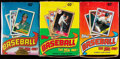 Baseball Cards:Unopened Packs/Display Boxes, 1986-90 Topps Baseball Unopened Boxes Lot of Five....