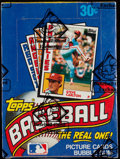 Baseball Cards:Unopened Packs/Display Boxes, 1984 Topps Baseball Wax Box With 36 Unopened Packs. ...