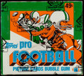 Football Cards:Boxes & Cases, 1982 Topps Football Cello Box With 24 Unopened Packs - LawrenceTaylor Rookie Year!...