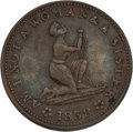 Political:Tokens & Medals, Anti-Slavery Hard Times Token....