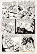 Original Comic Art:Panel Pages, Bob Brown Challengers of the Unknown #57 Story Page 22Original Art (DC, 1967)....