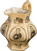 Political:Miscellaneous Political, William Henry Harrison: Massive 1840 Campaign Pitcher, Widely regarded as One of the Premier 19th Century Ceramic Political Di...