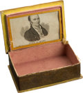"Political:3D & Other Display (pre-1896), John Quincy Adams: Outstanding ""Be Firm for Adams"" Sewing Box from the 1828 Election...."