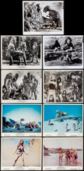 """Movie Posters:Fantasy, One Million Years B.C. (20th Century Fox, 1966). Color Photos (4)& Photos (22) (8"""" X 10""""). Artwork by Jack Thurston. Fantas...(Total: 26 Items)"""