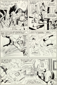 Jack Kirby and Vince Colletta Fantastic Four #41 Story Page 12 Sandman and the Wizard Original Art (Marvel, 1965)