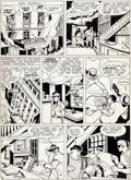 Original Comic Art:Panel Pages, Paul Reinman All-American Comics #89 Unpublished Page 8Green Lantern Original Art (DC, 1949)....