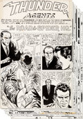Original Comic Art:Complete Story, Mike Sekowsky, Frank Giacoia, and Joe Giella T.H.U.N.D.E.R.Agents #12 Complete 10-Page Story Original Art (Tower,...(Total: 10 Items)