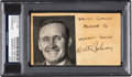 Baseball Collectibles:Photos, Circa 1930 Walter Johnson Signed Cut Signature....