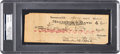 Baseball Collectibles:Others, 1924 Charles Ebbets Signed Check to Edward McKeever - Signed by Both, PSA/DNA Gem Mint 10. ...