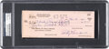 Autographs:Checks, 1963 Rocky Marciano Signed Check....