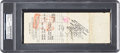 Autographs:Checks, 1930 Herb Pennock Signed New York Yankees Payroll Check Also Signed by Jacob Ruppert & Ed Barrow....