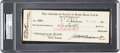 Autographs:Checks, Jacob Ruppert Signed Check as Owner of the New York Yankees, 1925....