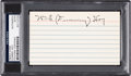 Autographs:Index Cards, 1950's Dummy Hoy Signed Index Card....