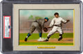 """Baseball Cards:Singles (Pre-1930), 1910-11 T3 Turkey Red """"Jordan & Herzog At First"""" (Checklist-No Mail-In Offer) #45 PSA EX+ 5.5 - Pop Two, Two Higher. ..."""