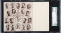 Baseball Cards:Singles (Pre-1930), 1906-07 Sporting Life Team Postcards - Detroit American League SGC 50 VG/EX 4 With Ty Cobb! ...