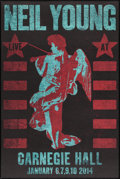 """Movie Posters:Rock and Roll, Neil Young Live At Carnegie Hall (2014). Poster (23.75"""" X 35.75""""). Rock and Roll.. ..."""