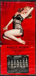 """Movie Posters:Miscellaneous, Marilyn Monroe by Tom Kelley (1954). Calendar (16"""" X 33.75"""") """"TheLure of Lace."""" Miscellaneous.. ..."""