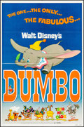 "Movie Posters:Animation, Dumbo (Buena Vista, R-1976). One Sheet (27"" X 41""). Animation.. ..."
