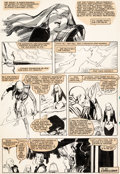 Original Comic Art:Panel Pages, Bill Sienkiewicz New Mutants #24 Story Page 22 Cloak and Dagger Original Art (Marvel, 1985)....