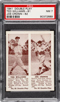 Baseball Cards:Singles (1940-1949), 1941 Double Play Ted Williams/Cronin #81/82 PSA NM 7....