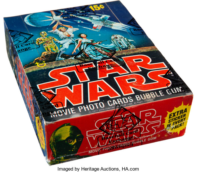 e275540db2a 1977 Topps Star Wars Series 1 Wax Box With 36 Unopened Packs ...