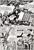 Original Comic Art:Panel Pages, Jack Kirby and Mike Thibodeaux Captain Victory and the GalacticRangers #8 Story Page 12 Original Art (Pacific Com...