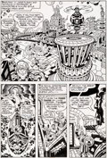 Original Comic Art:Panel Pages, Jack Kirby and Mike Thibodeaux Captain Victory and the GalacticRangers #8 Story Page 4 Original Art (Pacific Comi...