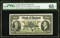 Canadian Currency, Canada Bank of Montreal $20 Jan. 3, 1938 Ch # 505-62-06 PMG Gem Uncirculated 65 EPQ.. ...