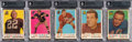 Football Cards:Unopened Packs/Display Boxes, 1959 Topps Football Unopened Cello Pack BGS Collection (5). ...
