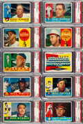 Baseball Cards:Lots, 1960 Topps Baseball PSA MINT 9 Collection #'s 303-399 (56)....