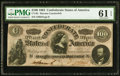 """Confederate Notes:1864 Issues, CT65/491 """"Havana Counterfeit"""" $100 1864 PMG Uncirculated 61 EPQ.. ..."""