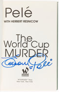 Olympic Collectibles:Autographs, Pele Signed Book....