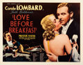 Movie Posters:Comedy, Love Before Breakfast (Universal, 1936). Very Fine- on Pap...