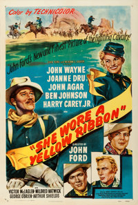 "She Wore a Yellow Ribbon (RKO, 1949). One Sheet (27"" X 41"")"