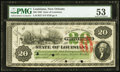 Obsoletes By State:Louisiana, New Orleans, LA- State of Louisiana $20 June 1, 1866 PMG About Uncirculated 53.. ...
