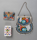American Indian Art:Beadwork and Quillwork, Three American Indian Beaded Pouches... (Total: 3 Items)