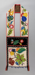 American Indian Art:Beadwork and Quillwork, An Ojibwe Beaded Bandolier Bag...