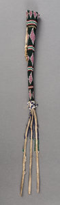 American Indian Art:Beadwork and Quillwork, A Plains Beaded Hide Awl Case...