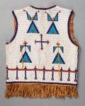 American Indian Art:Beadwork and Quillwork, A Sioux Beaded Hide Vest...