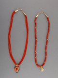 Jewelry:Necklaces, Two Navajo Necklaces. Richard Begay and L. M. Nez... (Total: 2 Items)