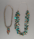 American Indian Art:Jewelry and Silverwork, Two Southwest Necklaces... (Total: 2 Items)