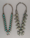 Jewelry:Necklaces, Two Navajo Squash Blossom Necklaces... (Total: 2 Items)