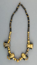 Jewelry:Necklaces, A Moche Gold and Stone Bead Necklace...