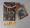 American Indian Art:Beadwork and Quillwork, A Plains Dispatch Case with Mirror Board c. 18...