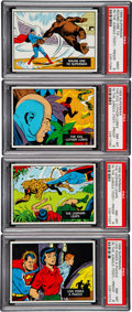 """Non-Sport Cards:Lots, 1968 Topps Test """"Superman In The Jungle"""" PSA-Graded Blank Back Proofs (4). ..."""