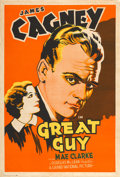 "Movie Posters:Crime, Great Guy (Grand National, 1936). One Sheet (28"" X 41""), Fromthe Warner Media Archive.. ..."